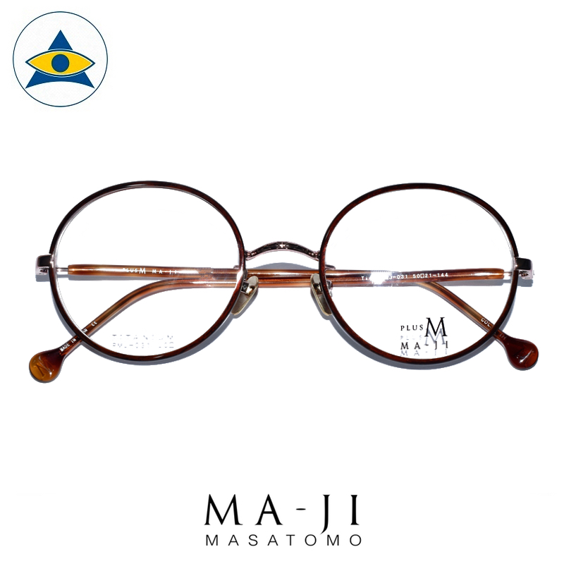 Maji Masatomo Plus M PMJ 031 C2 Brown s50-21 $218 1 eyewear frame tampines admiralty optical