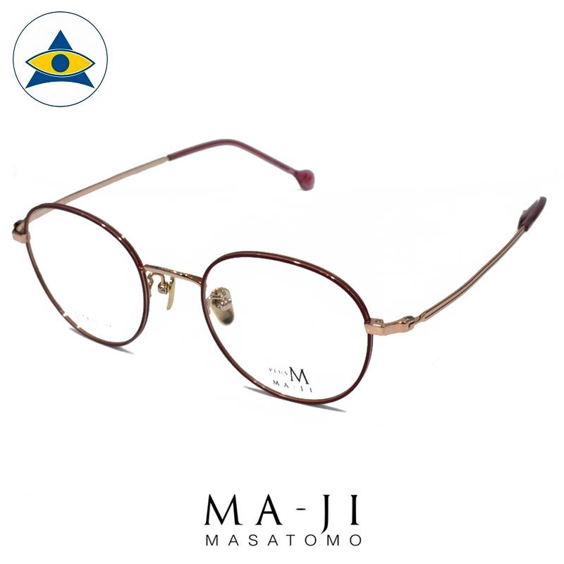 Maji Masatomo Plus M PMJ 034 C2 Red-Gold s4920 $218 1 eyewear frame tampines admiralty optical