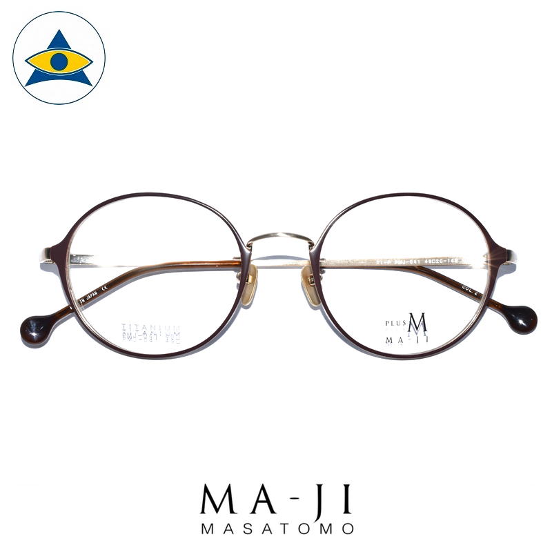 Maji Masatomo Plus M PMJ 041 C2 Purplish Brown-Gold s4920 $218 1 eyewear frame tampines admiralty optical