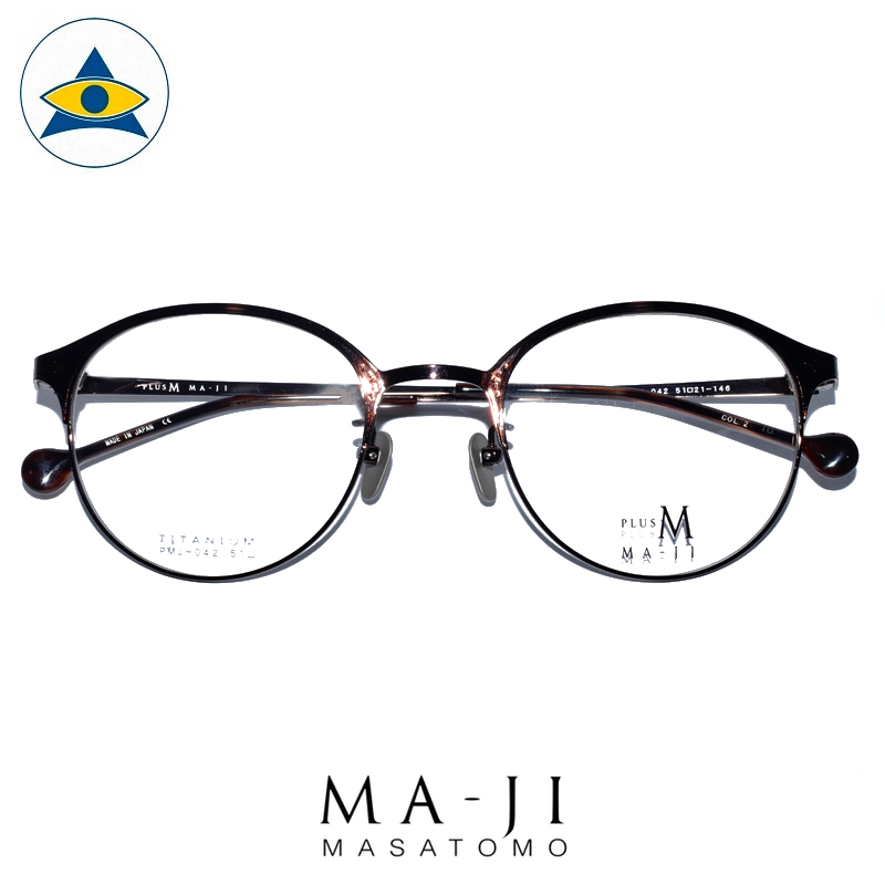 Maji Masatomo Plus M PMJ 042 C1 Dark Bronze s4920 $218 1 eyewear frame tampines admiralty optical