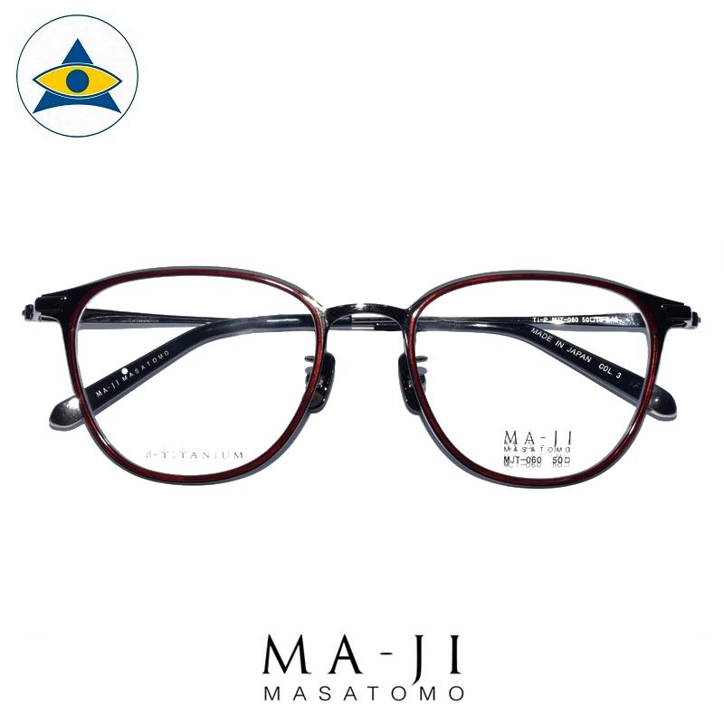 Maji Masatomo Plus M PMJ 060 C3 Maroon-Gun s5019 $308 1 eyewear frame tampines admiralty optical