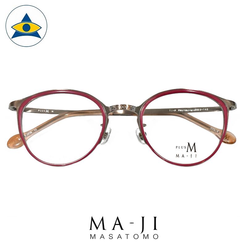 Maji Masatomo Plus M PMJ 505 C4 Raspberry-Gold s4922 $218 1 eyewear frame tampines admiralty optical