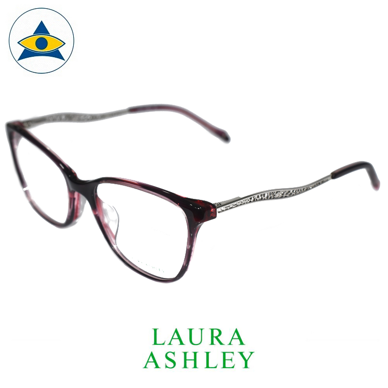 Laura Ashley 16-1009 C2 Burgundy-Silver s5318 $188 2 eyewear optical spectacle glasses tampines admiralty optical
