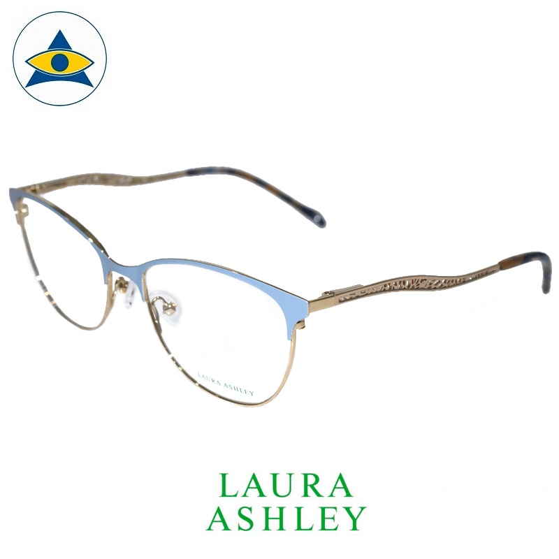 Laura Ashley 16-365 C4 Moon Blue-Gold s5317 $188 1 eyewear optical spectacle glasses tampines admiralty optical