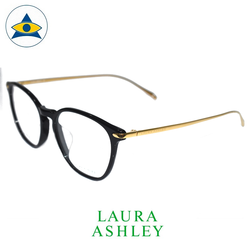 Laura Ashley 16-678B C1 Black-Gold s5117 $188 2 eyewear optical spectacle glasses tampines admiralty optical