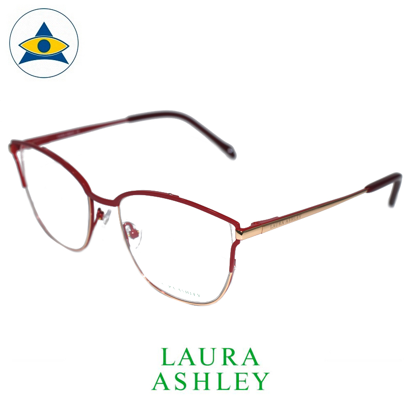 Laura Ashley 17-366 C4D Red-Gold s5218 $188 1 eyewear optical spectacle glasses tampines admiralty optical