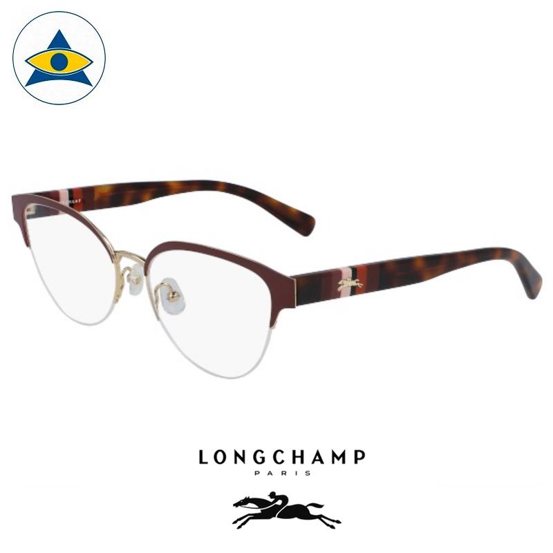 Long Champ 2110 C604 Burgundy Havana S5317 $238 1 eyewear optical spectacle glasses tampines admiralty optical