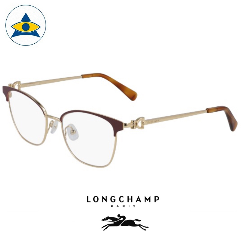 Long Champ 2111 C604 Burgundy Gold S5217 $258 1 eyewear optical spectacle glasses tampines admiralty optical