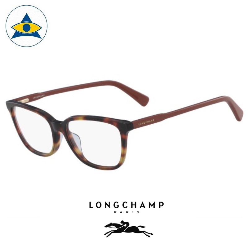 Long Champ 2607 C214 Havana Dark Orange S5416 $218 1 eyewear optical spectacle glasses tampines admiralty optical