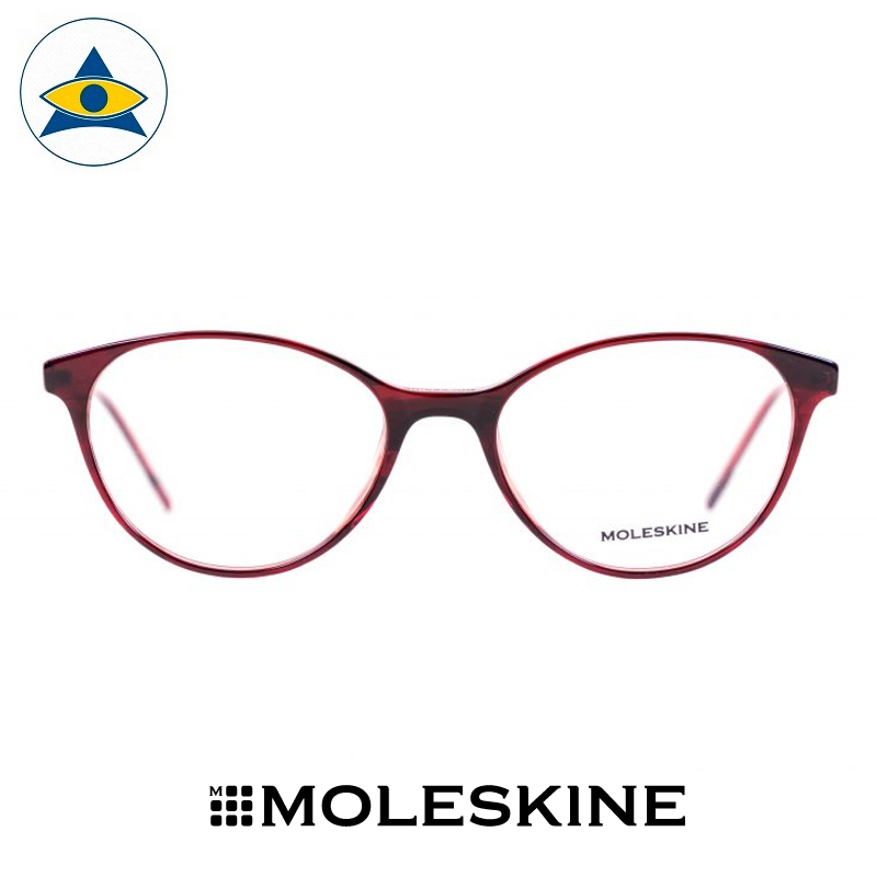 MO1102-43-51-17-145-S.-Black-Red-Striples-SM.-Silver-A-1-Moleskine frames Tampines Optical Admiralty