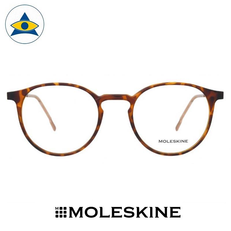 MO3106-31-48-20-148-Soft-Havana-Matt-Rose-Gold-A-Moleskine frames Tampines Optical Admiralty