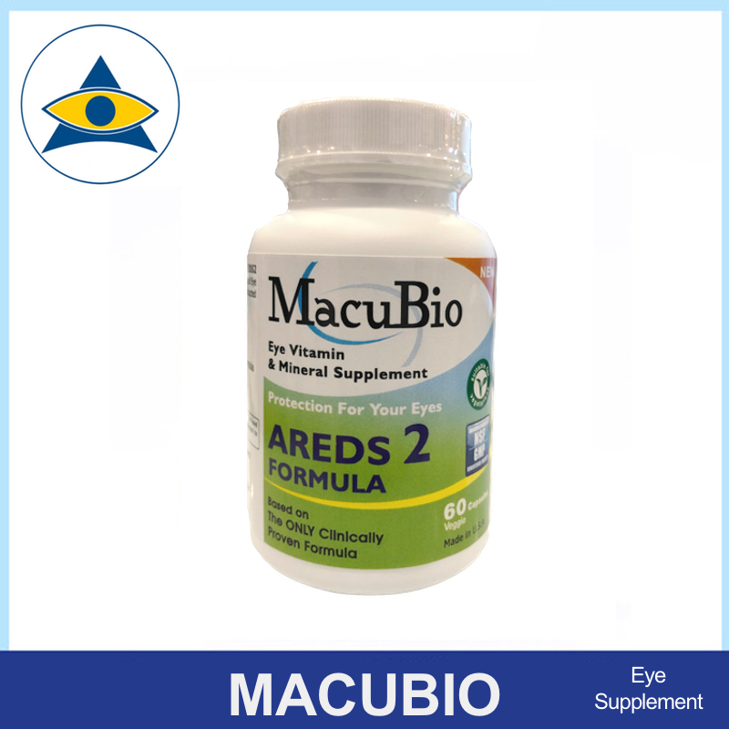 Macubio AREDS 2 Retina eye nutrition supplement tablets for AMD Tampines Admiralty Optical