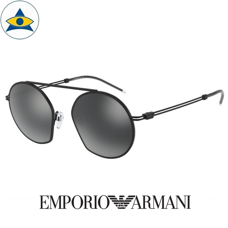 emporio armani sunglass 2078 30061g black w silver mirror s5019 288 2