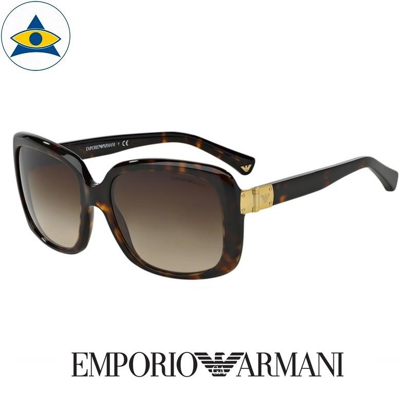 emporio armani sunglass 4008 5026:13 tortoise w brown gradient s5617 338 2