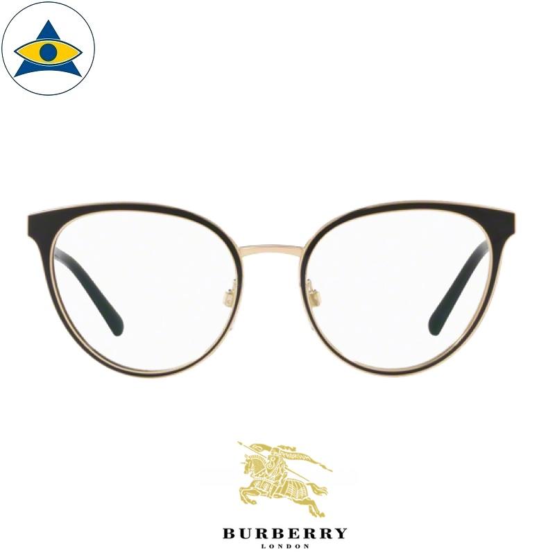 Burberry B 1324 1262 Black-Gold s5219 $368 1 eyewear frame tampines optical admiralty optical