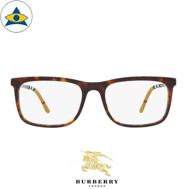 Burberry B 2274F 3002 Havana-Silver s5518 $338 1 eyewear frame tampines optical admiralty optical