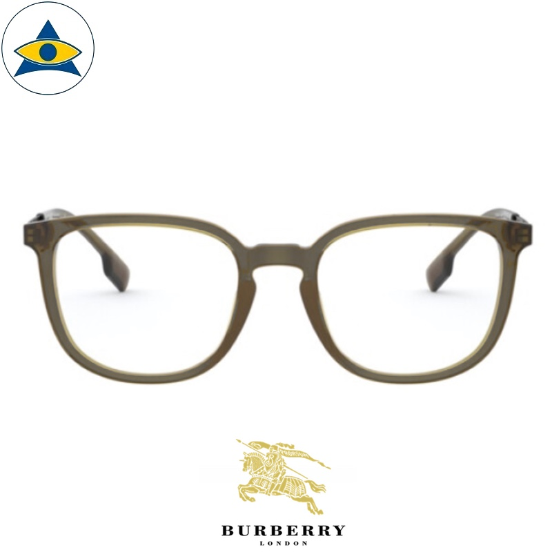 Burberry B 2307F 3356 Olive-Silver s5220 $338 1 eyewear frame tampines optical admiralty optical