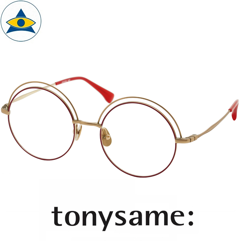 Tonysame eyewear TS 10623 Red Gold s5118 $438 4 tampines optical admiralty optical