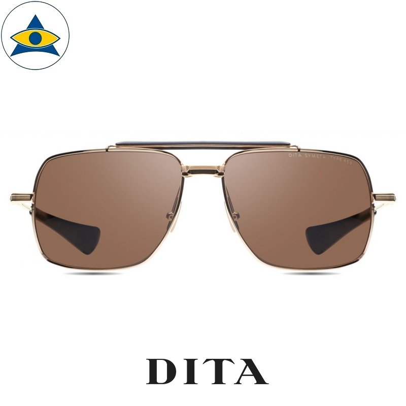 dita SYMETA – TYPE 403 DTS126 White Gold Black with Brown Lens s6216 $ 1 tampines admiralty optical