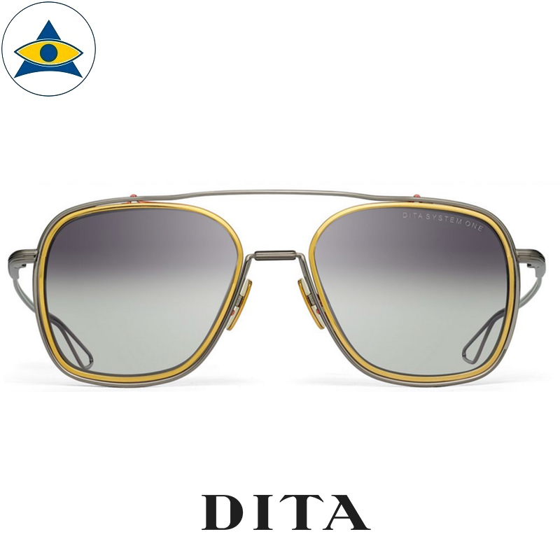 dita SYSTEM-ONE DTS103 BLACK PALLADIUM with Silver LENS s5319 $ 1 tampines admiralty optical