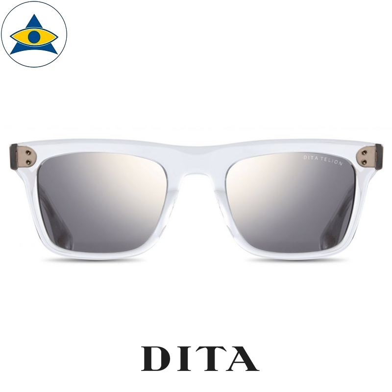 dita TELION Clear-White Gold with Grey Gold Flash Lens s5122 $ 1 tampines admiralty optical