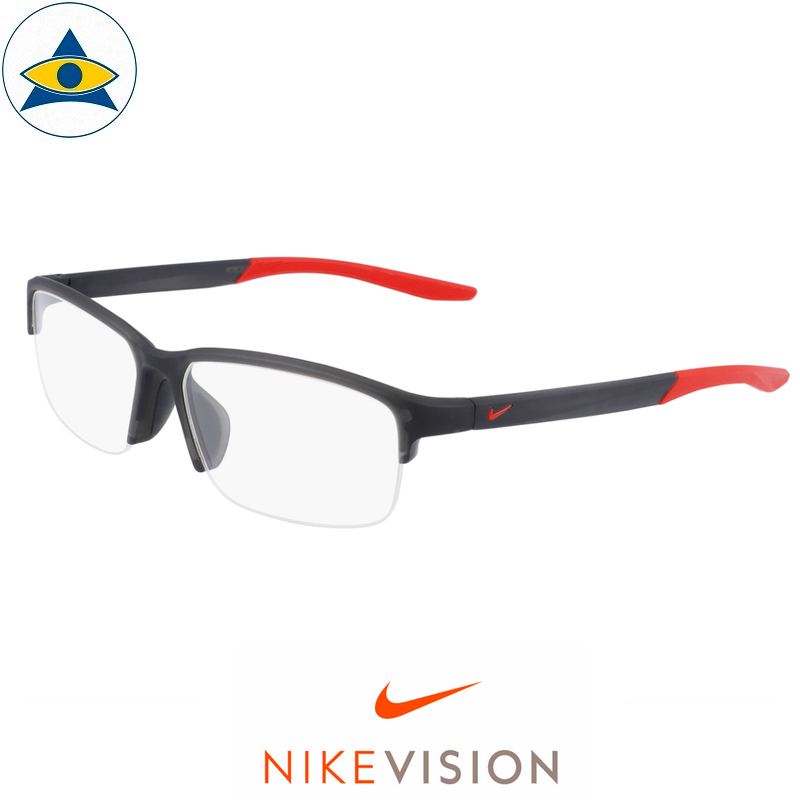 Nike 7136 065 Matte Anthracite:Red s57-15 $178 Tampines Optical Admiralty Optical 2