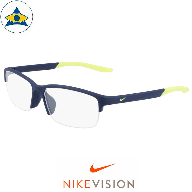 Nike 7136 402 Matte Navy:Volt s57-15 $178 Tampines Optical Admiralty Optical 2