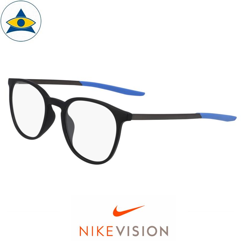 Nike 7280 008 Matte Black:Blue s5020 $228 Tampines Optical Admiralty Optical 1