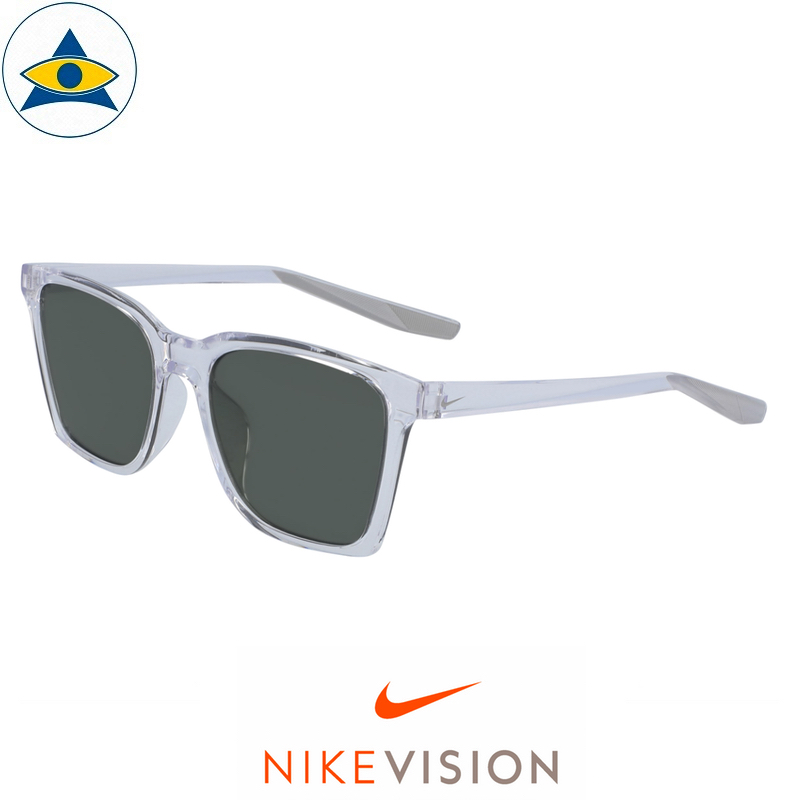 Nike Sunglass CT 8127 Bout 913 Clear-Wolf Grey w Green s54-18 168 Tampines Optical Admiralty Optical 1