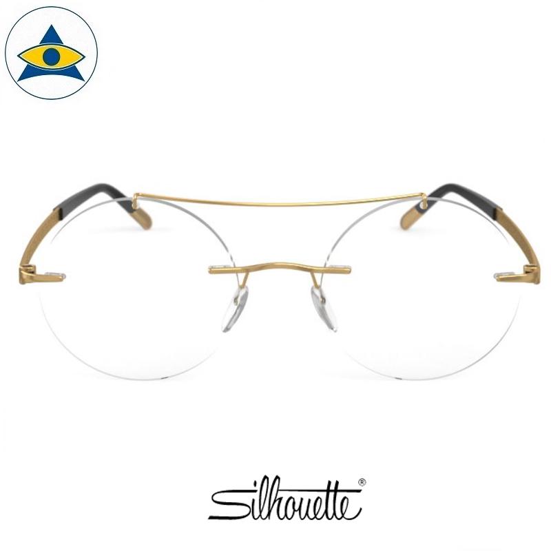 Silhouette eyewear 5528 Prestige Rimless 7521 Gold-Black s4820 $838 1
