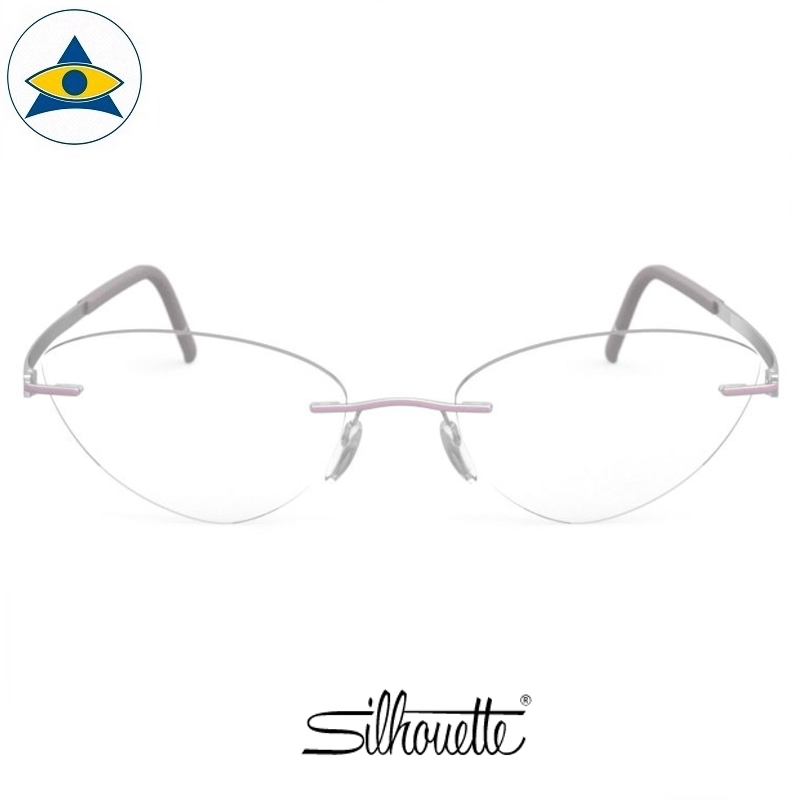 Silhouette eyewear 5529 Momentum Rimless 4005 Rhodioum-Heather Violet s5617 $518 1
