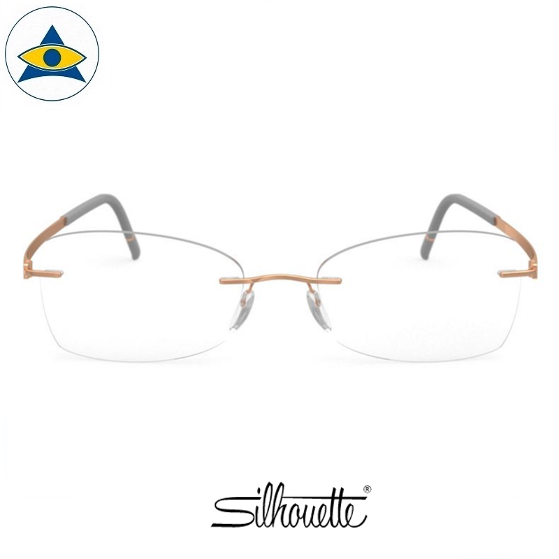Silhouette eyewear 5529 Momentum Rimless 6521 Rose Gold-Highland Grey s5219 $518 1