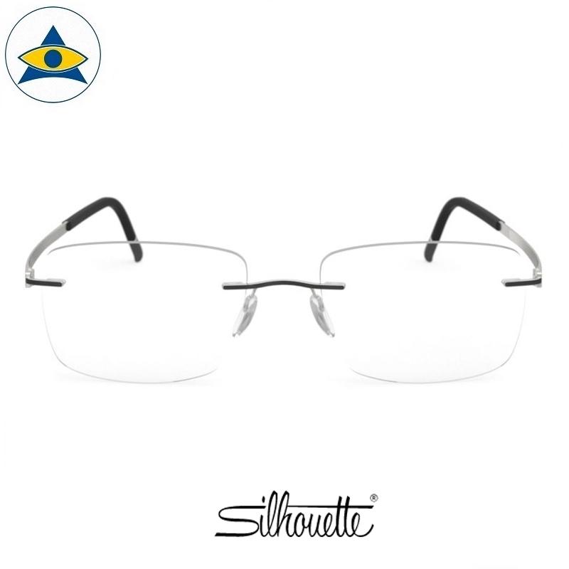 Silhouette eyewear 5529 Momentum Rimless 9011 Titanium-Iceland Black s5419 $518 1