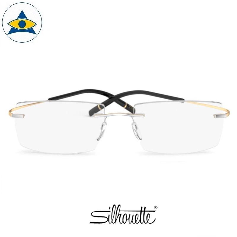 Silhouette eyewear 5539 TMA Icon GOLD Ed Rimless 8081 Rhodium Gold s5419 $588 1