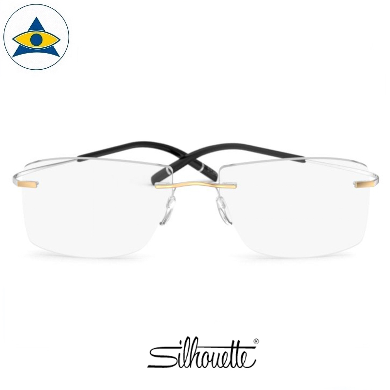 Silhouette eyewear 5539 TMA Icon GOLD Ed Rimless 8181 Gold Rhodium s5617 $588 1