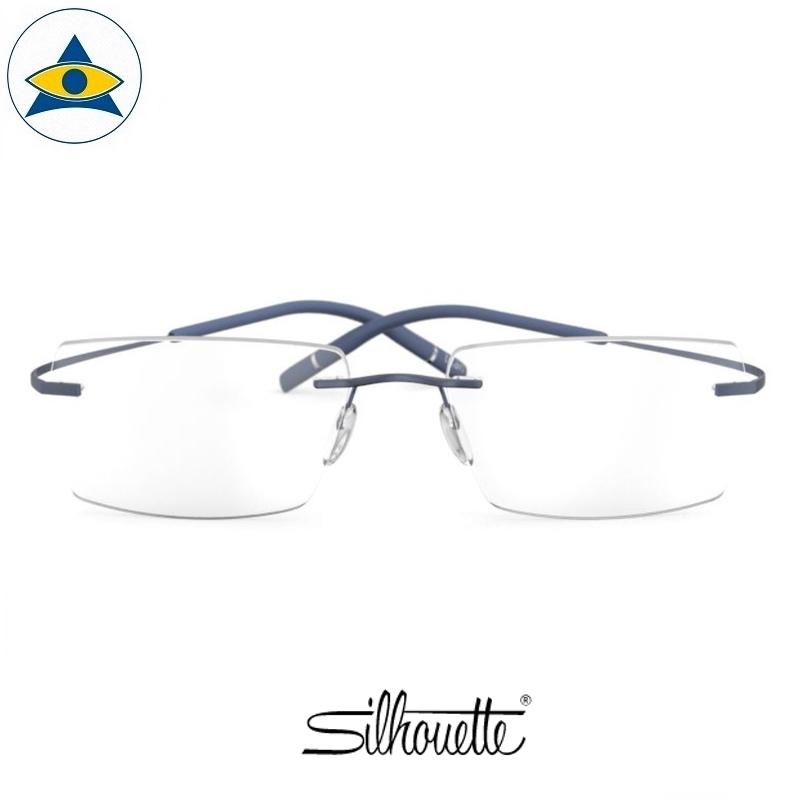 Silhouette eyewear 5541 TMA Icon Rimless 4542 Cosmic Blue s5219 $468 1