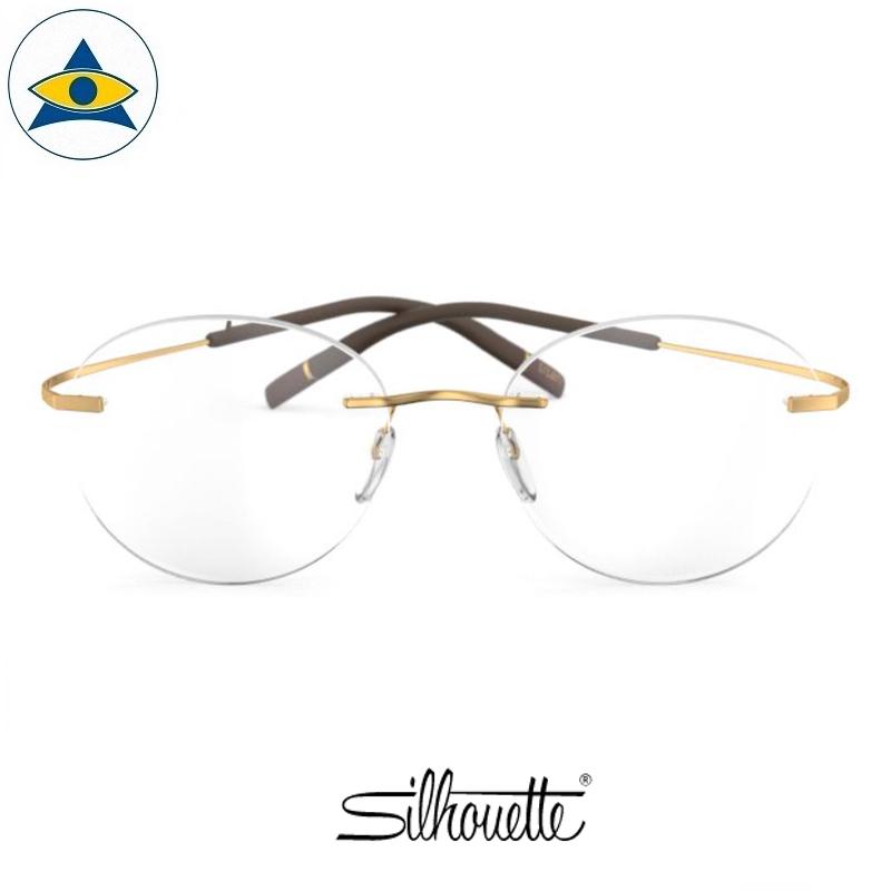 Silhouette eyewear 5541 TMA Icon Rimless 7521 Gold s4820 $468 1