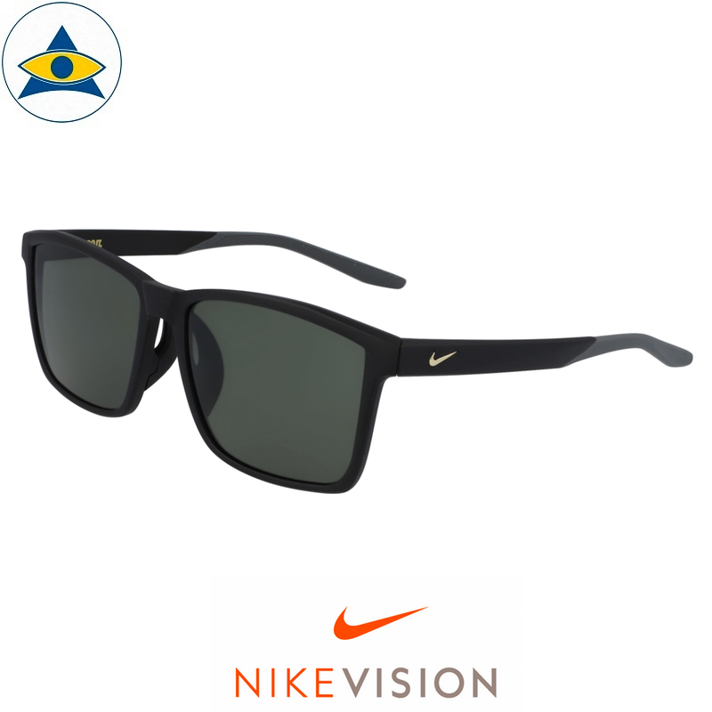 Nike Sunglass CW 4725 Channel AF 010 Matte Black w Green s60-17 198 Tampines Optical Admiralty Optical 2