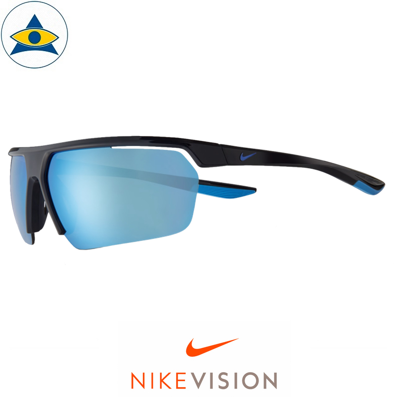 Nike Sunglass DC 2910 Gale Force AF 010 Racer Blue w Blue Mirror s73-13 168 Tampines Optical Admiralty Optical 1