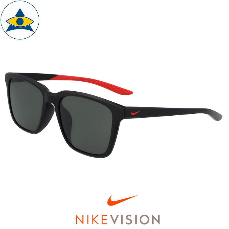 Nike Sunglass DC 7445 RHYME AF 010 Matte Black-Red w Green s56-18 178 Tampines Optical Admiralty Optical 0