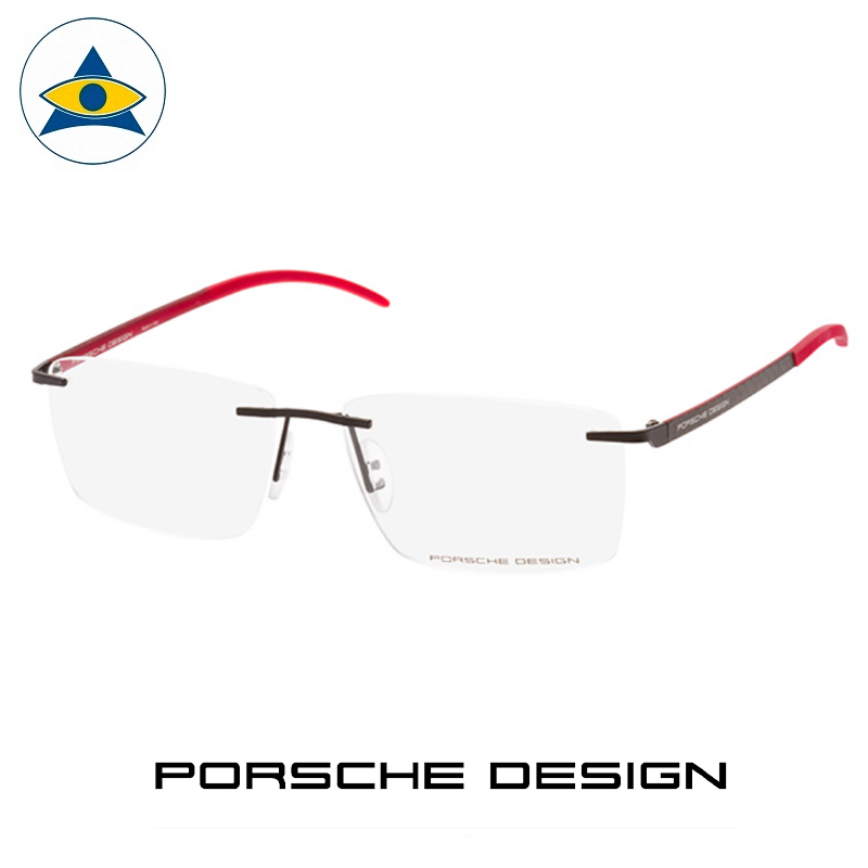 Porsche P 8341 A Black-Red s5615 $558 2 eyewear frame tampines admiralty optical