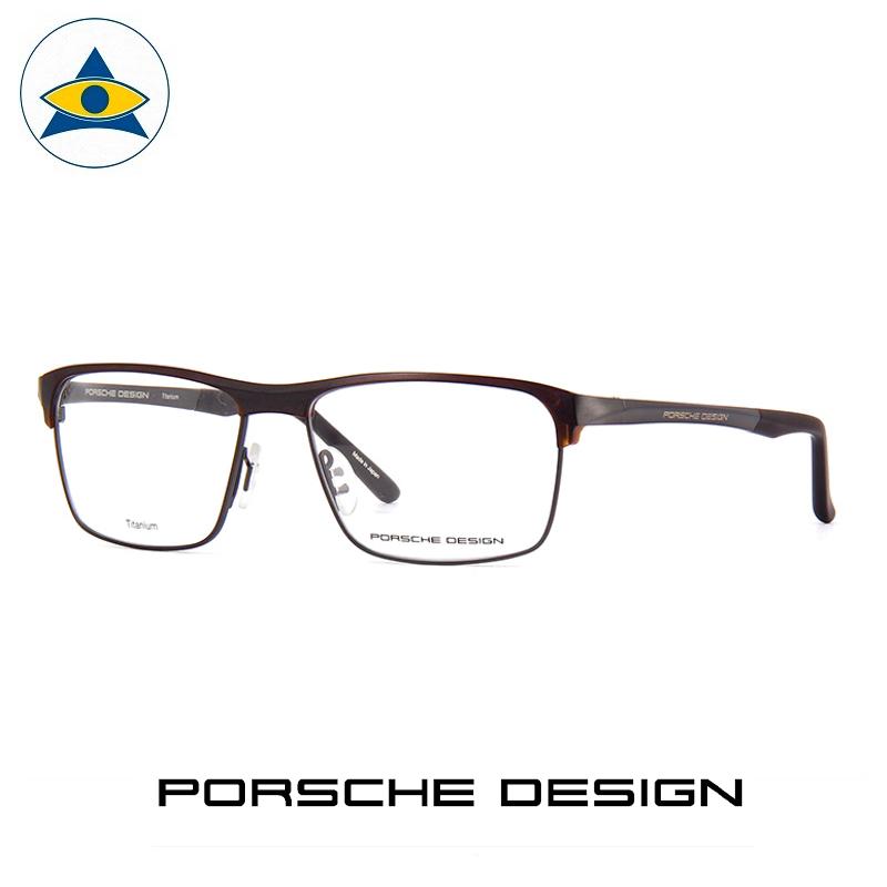 Porsche P 8343 A Black-Grey s57-16 $688 1 eyewear frame tampines admiralty optical