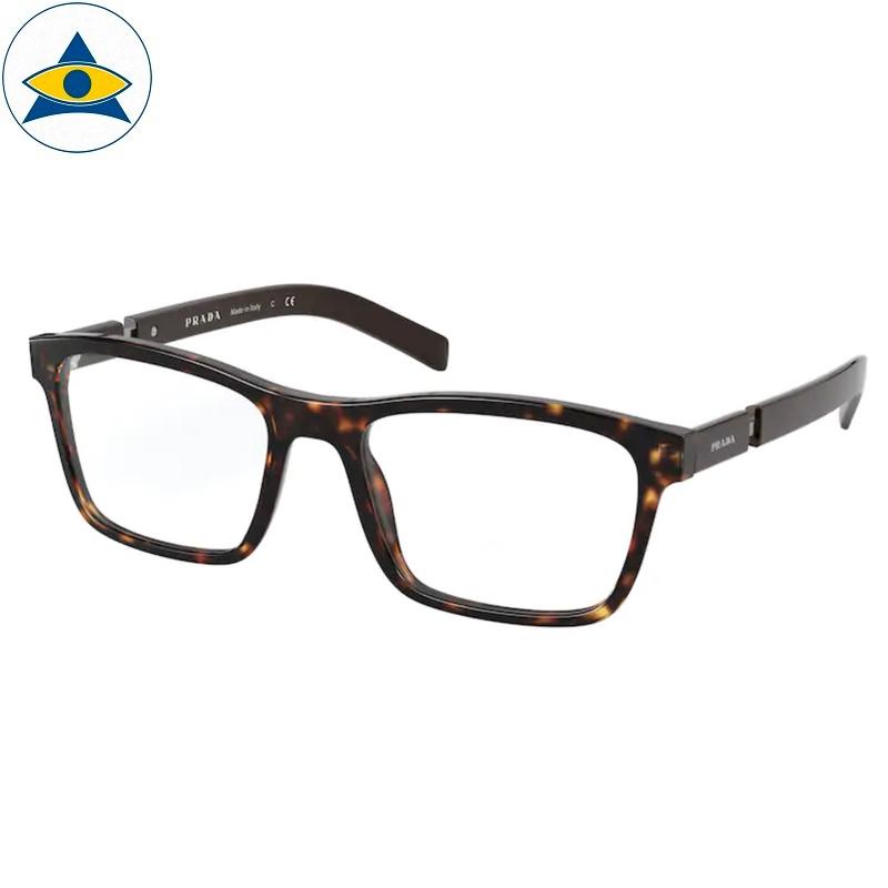 Prada Eyewear VPR 16XVF 2AU Havana-Brown s5617 398 Tampines Optical Admiralty Optical 1