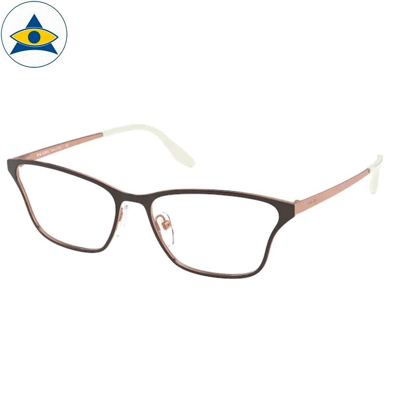 Prada Eyewear VPR 60XV 331 Brown- RoseGold s5516 438 Tampines Optical Admiralty Optical 1