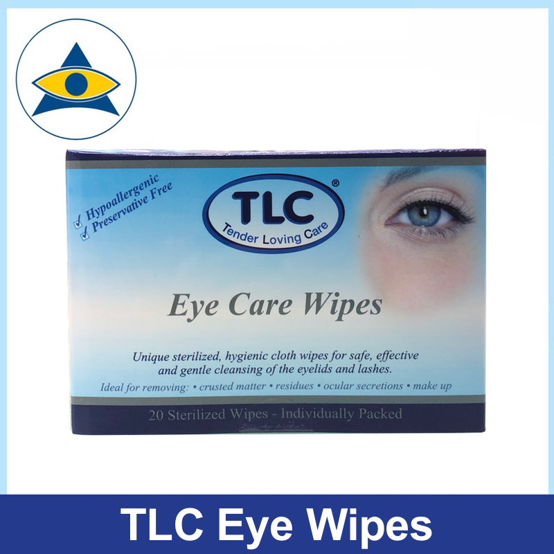 TLC eye lid wipes 20 pieces tampines admiralty optical