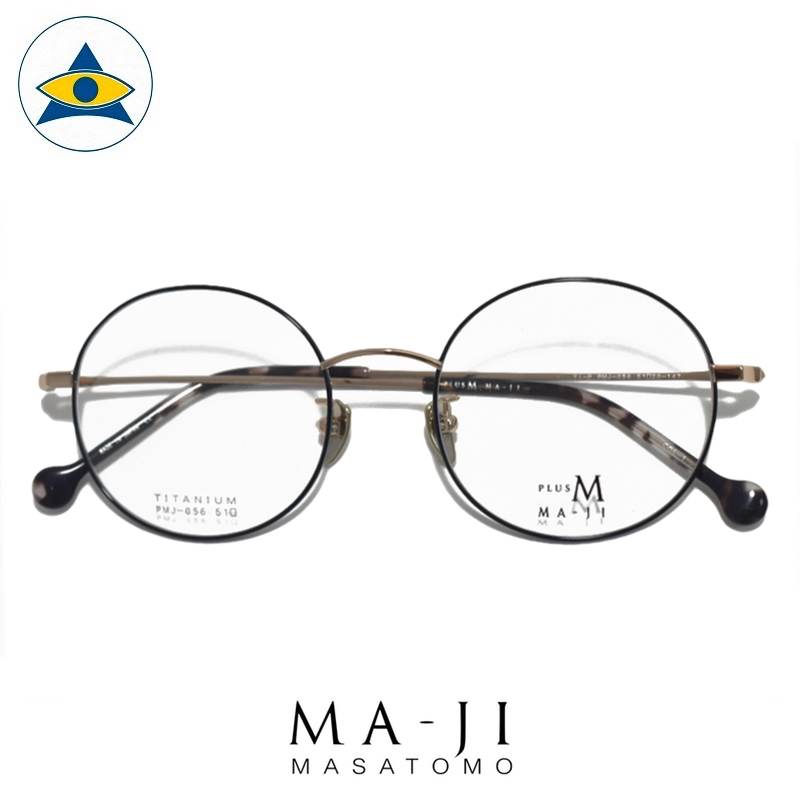 Maji Masatomo Plus M PMJ 056 C1 Black Rose Gold s51-20 $218 1 eyewear frame tampines admiralty optical