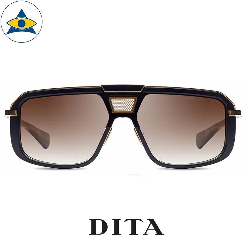 dita MACH-EIGHT DTS400-A-01-Z MATTE BLACK – YELLOW GOLD – BLACK RHODIUM s $ 1 tampines admiralty optical